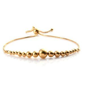 Bolo Bracelet 14K Yellow Gold Over Sterling Silver